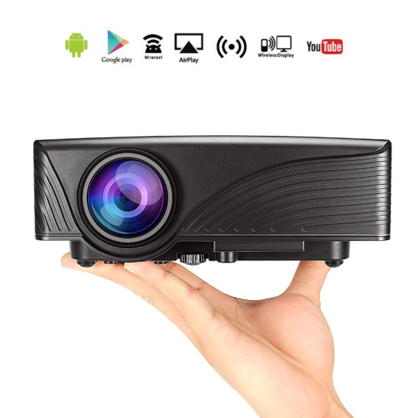 Buy mantistek mp1 1200 lumens android 4 4 1g 8g wifi for Mp50 portable hdmi projector