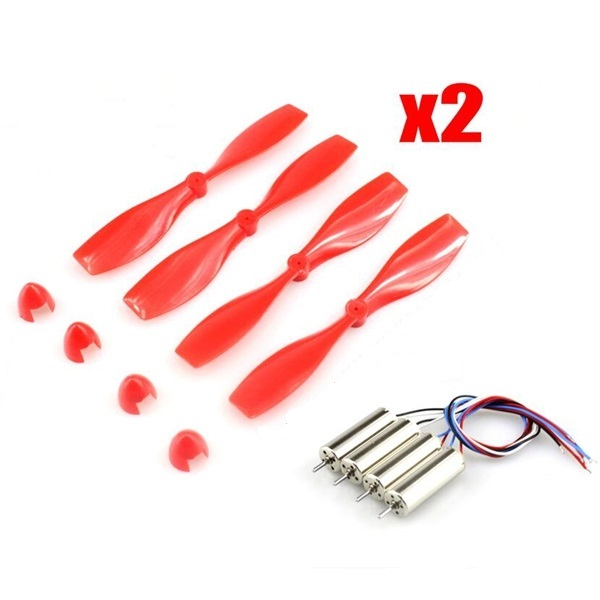 Eachine 75mm Blade Propeller Prop 8Pcs & 8.5x20mm Coreless Motor 4Pcs for DIY Micro Quadcopter Frame