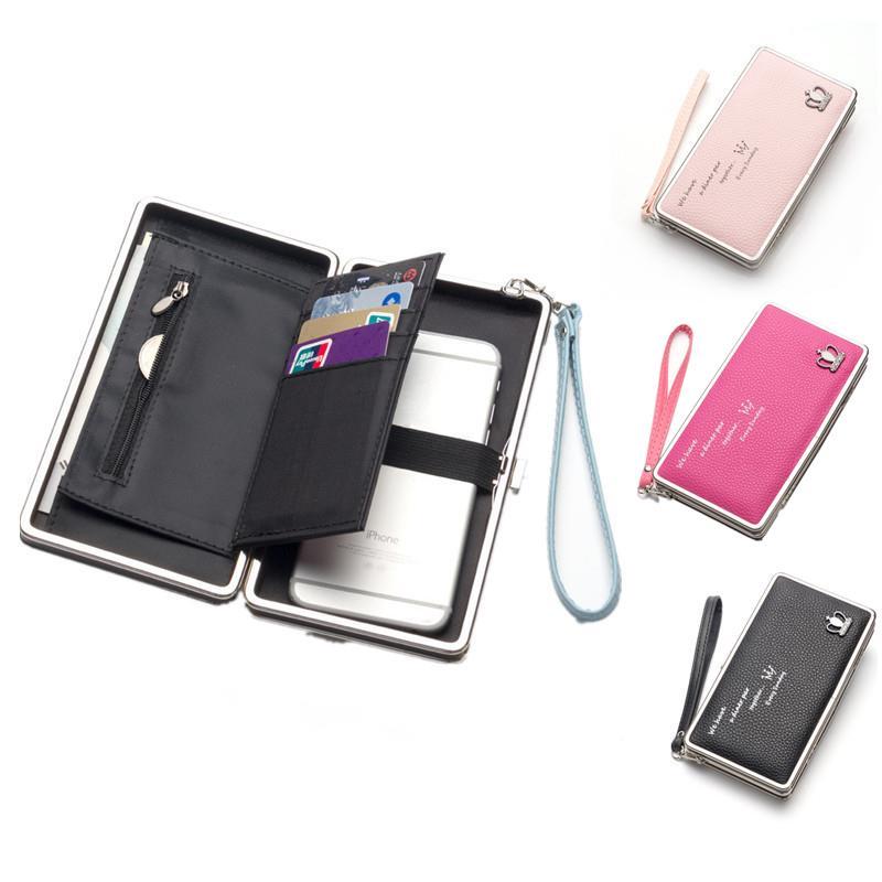 Bakeey™ Universal 5.5-inch Women Phone PU Wallet Purse Handbag For Xiaomi Huawei Samsung iPhone 7