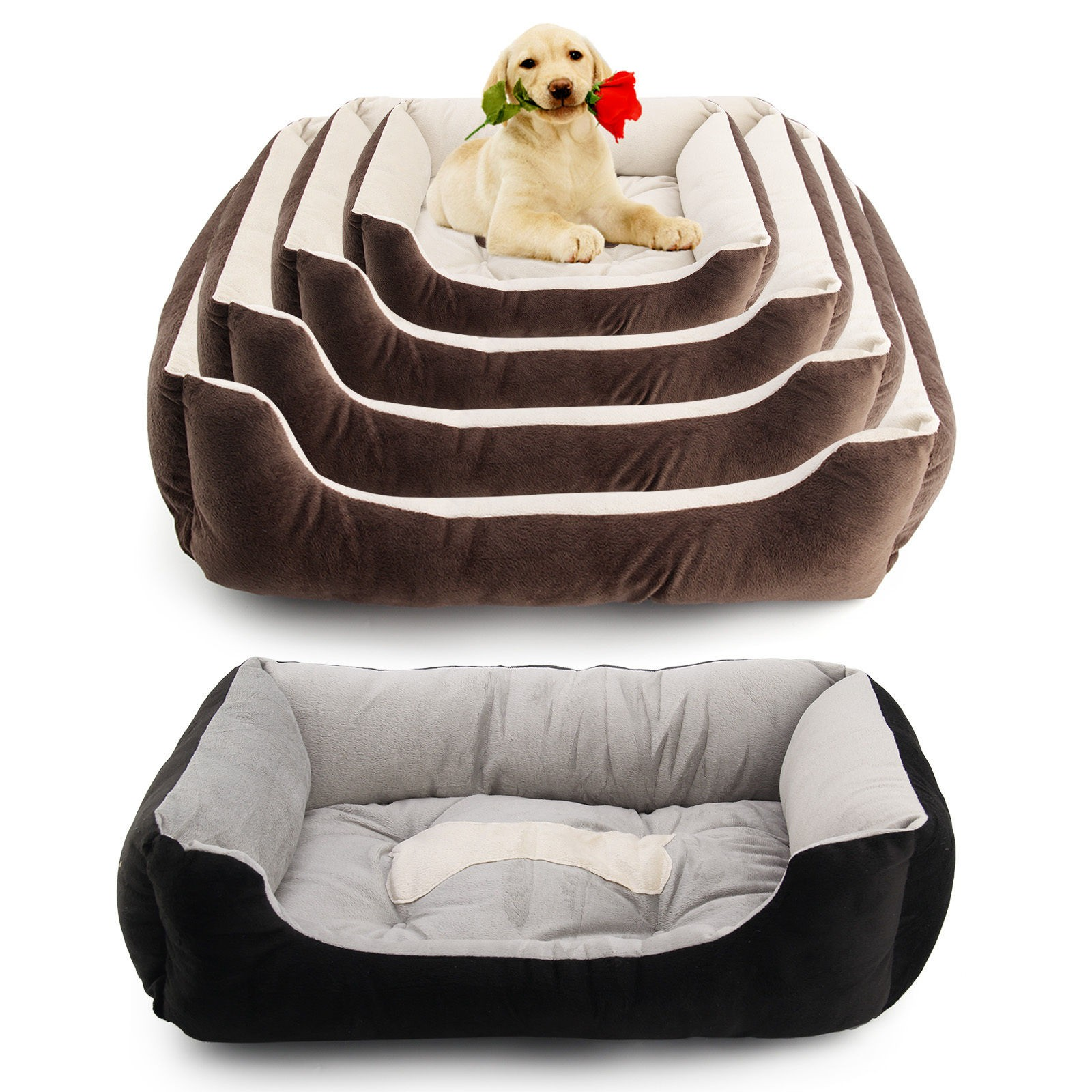 big size large pet bed cushion dog warm nest kennel puppy cat soft