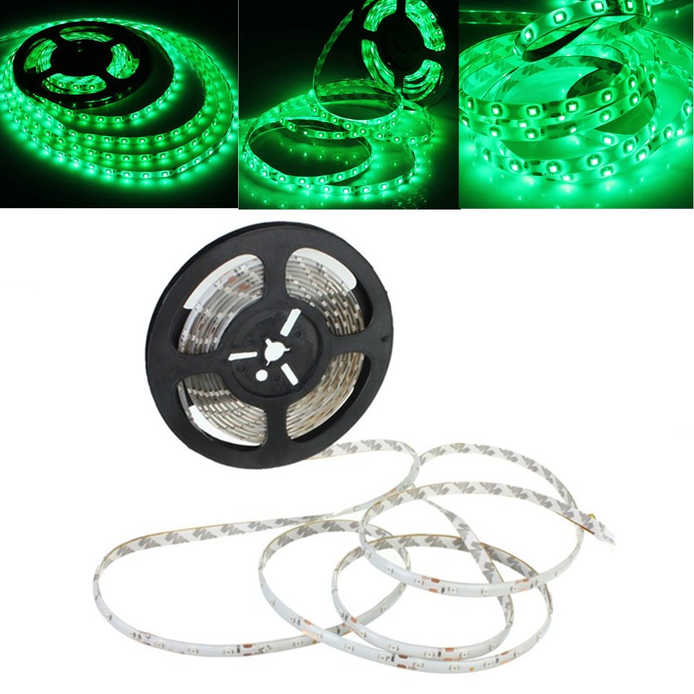 5M Green 300 LEDs SMD 3528 Flexible Led Strip Light Wat
