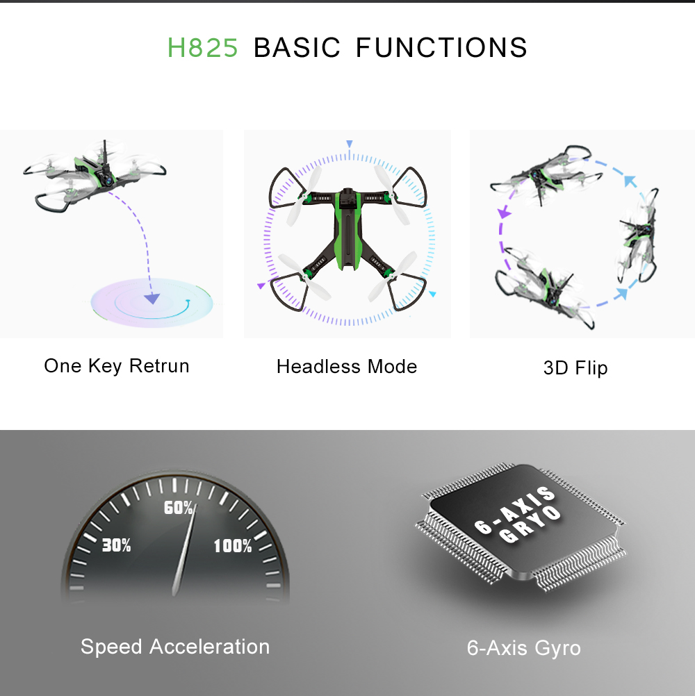 Flytec H825 5.8G FPV With Wide Angle 0.3MP Camera  Racing Foam Set Drone RC Quadcopter RTF
