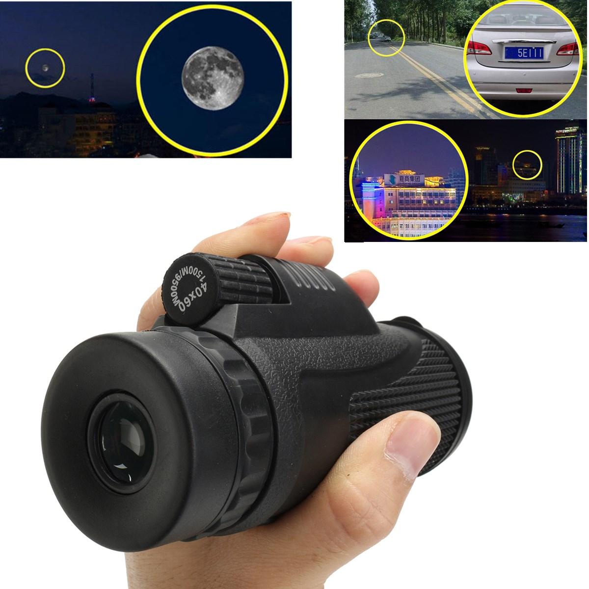 XHDLenteTelescopiomonocularal aire libre cámping Senderismo Día Visión nocturna Zoom óptico con Bolsa