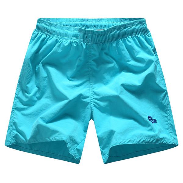 Buy Mens Summer Casual Quick-drying Beach Shorts Elastic Waist Solid Color