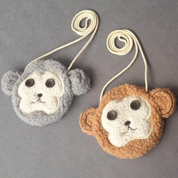 Buy Kids Plush Crossbody Bags Children Casual Kindergarten Handbag Cartoon Cute Monkey Coin Purse
