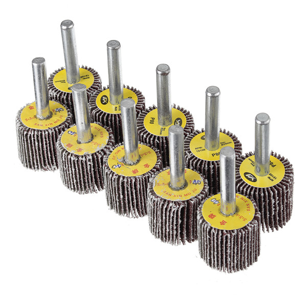 10pcs 25mm 40&80 Grit Flap Wheel Disc Set Sanding Drill Abrasive Sandpaper Polishing Tool