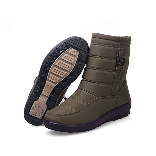 US Size 5-11 Winter Women Down Cloth Waterproof Snow Boots Keep Warm Flats