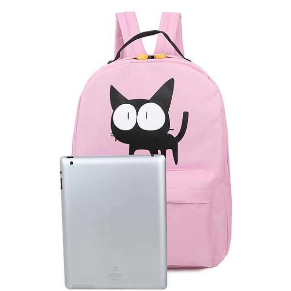 Teenager Casual Students Canvas Backpack Large Capacity Durable School Bag