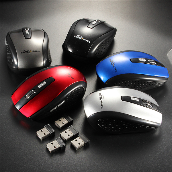 Bestrunner 2.4G 6 Buttons 800-1200DPI Wireless Optical Mouse