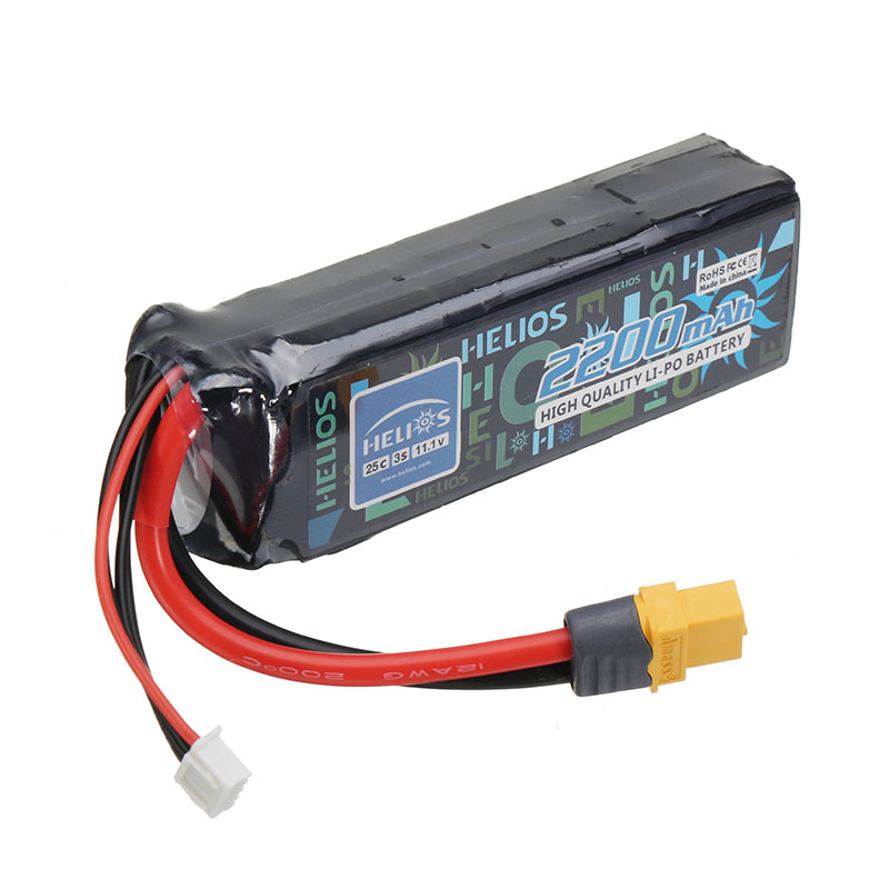 Helios 11.1V 2200mAh 3S 25C XT60 Plug Lipo Battery For