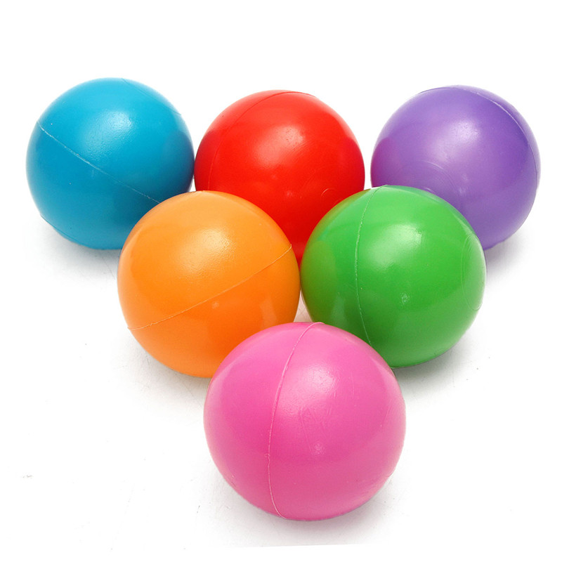 200PCS 4cm Soft Plastic Ocean Ball Secure Kid Pit Toy Swim Colorful Ball Toy - Photo: 5