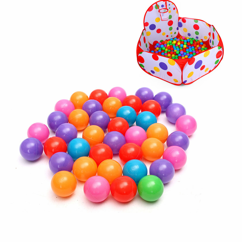 200PCS 4cm Soft Plastic Ocean Ball Secure Kid Pit Toy Swim Colorful Ball Toy - Photo: 1