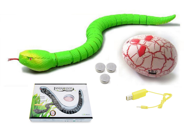 Infrared Electric RC Snake Simulation Remote Control Rricky Rattlesnake Toy - Photo: 4