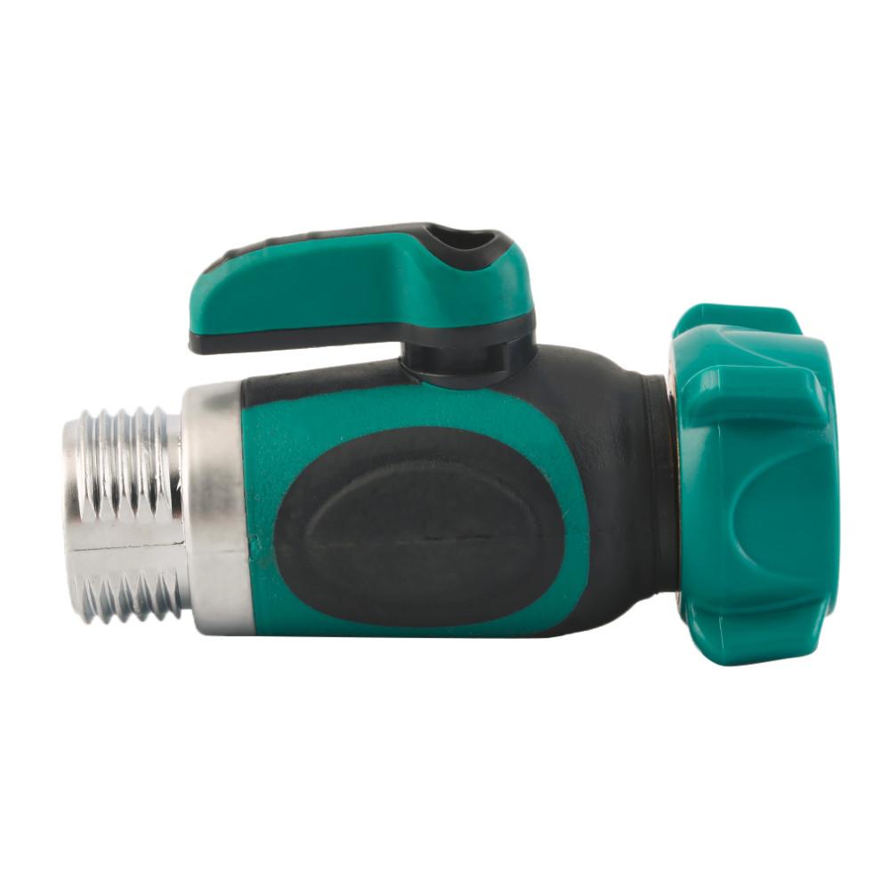 3 4 Inch Garden Hose 1 Way Shut Off Valve Water Pipe Faucet Connector Us Standard Thread