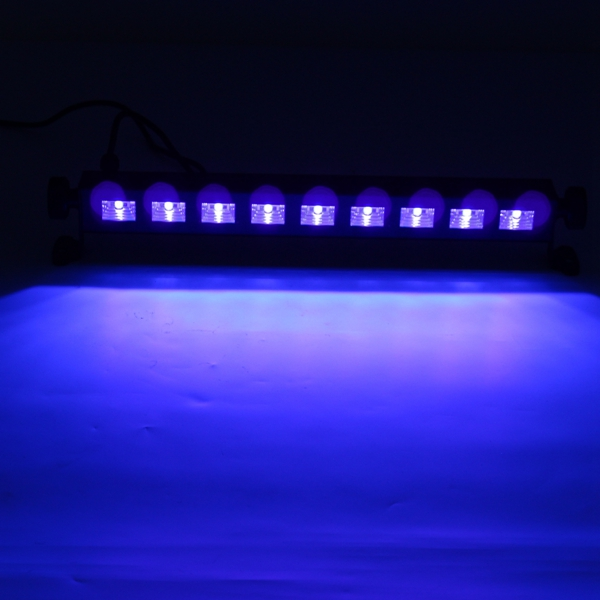 Led Wall Dj Light: 9x3W UV Purple LED Bar Light Wall Washer Lamp UK/EU Plug