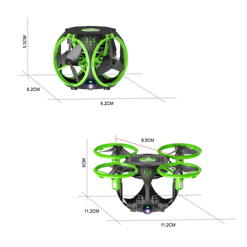 FQ777 FQ26 Miracle Mini WiFi FPV With Wide-angle Camera Altitude Hold Foldable Drone RC Quadcopter
