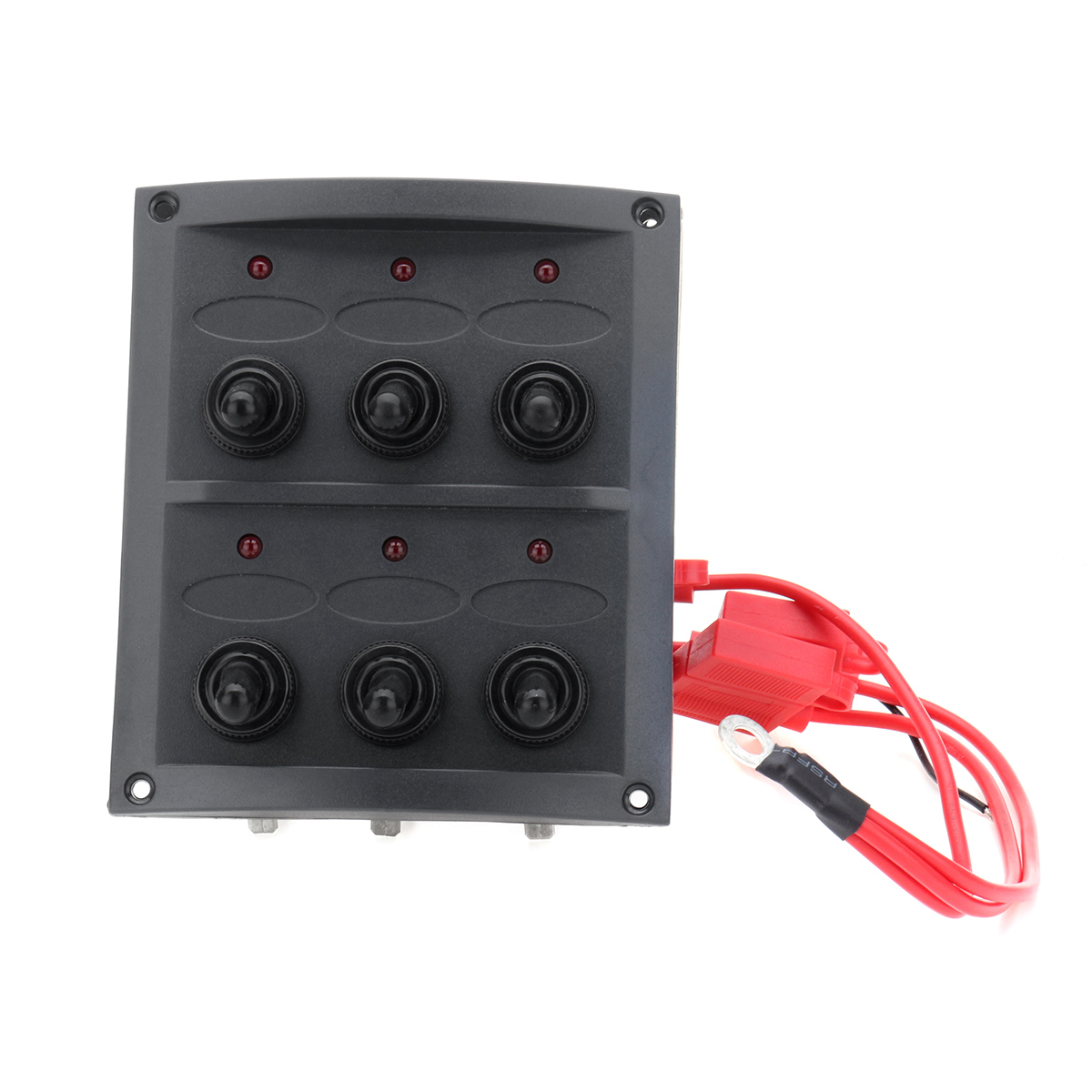 Dc v gang toggle switch panel red led light a blade
