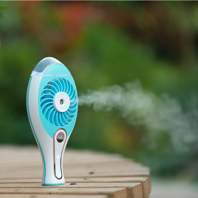 Loskii UF-179 Rechargeable USB Fan Spray Humidifier Portable Air Condition Cool Fan For Home Comfort