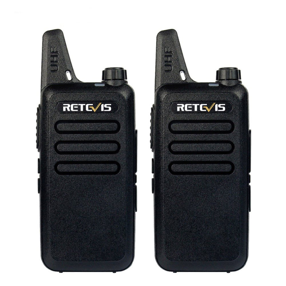 2PCS Mini Walkie Talkie Retevis RT22 2W UHF 400-480MHz