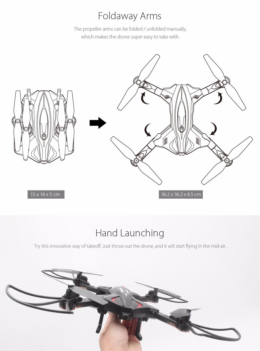 Skytech TK110HW WIFI FPV With 720P HD Camera Foldable 2.4GHz 6 Axis Gyro RC Quadcopter RTF - Photo: 2