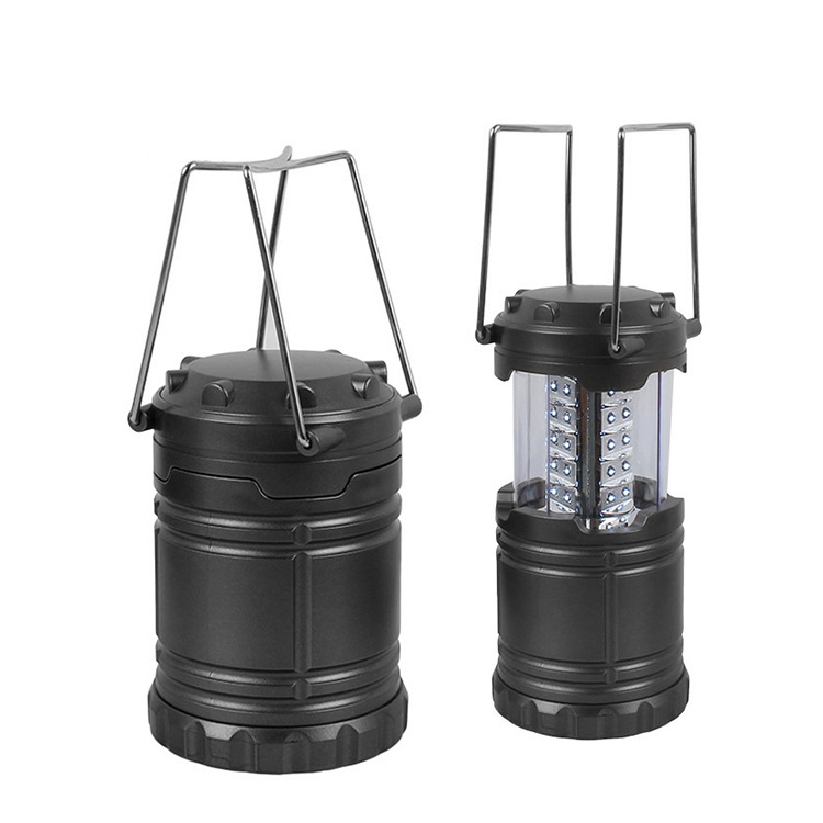 30 LED Portable Tent Light Lantern Retractable Folding Lamp For Camping Hiking Fishing