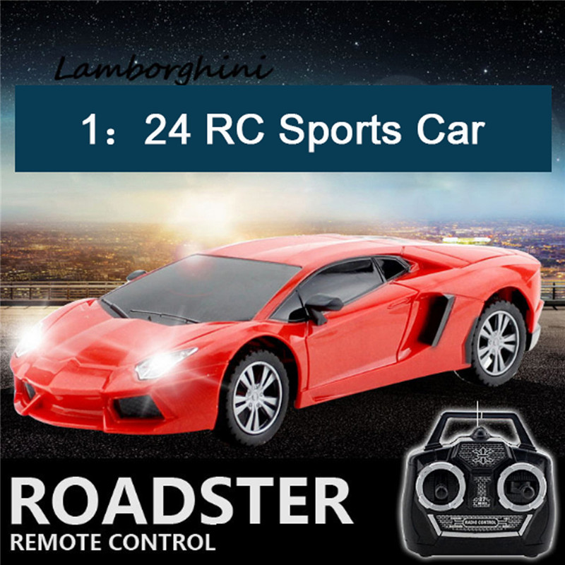 1:24 Wireless Remote Control 4 Channel Racing Car With Front Light Kids Toy Gift