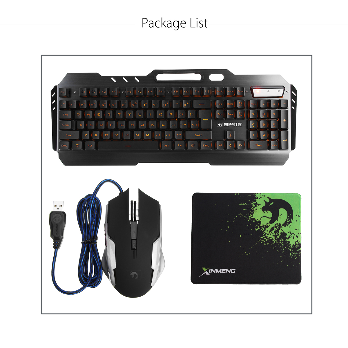 Usb Wired Yellow Led Backlight Mechanical Handfeel Gaming