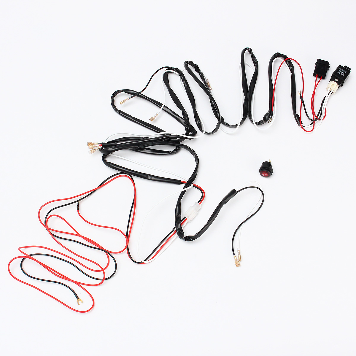 40a 300w relay fuse led light bar wiring harness on  off