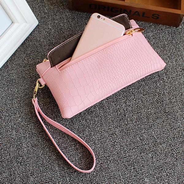 Women Crocodile Clutches Bags Zipper Long Wallet 6.0'' Phone Purse For Iphone 7P