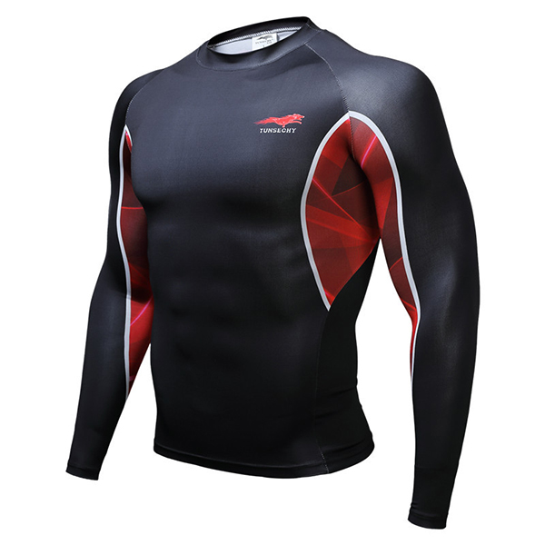 Buy 3D Printing Sports Mens T-shirts GYM Training Tight Breathable Quick Dry Tops Tees