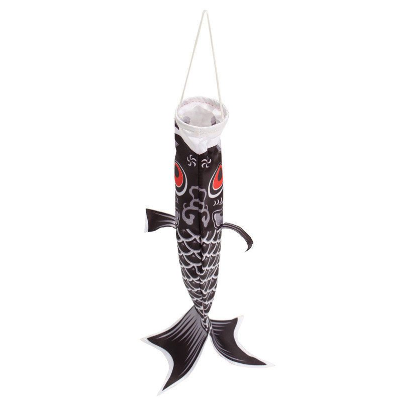 40cm Multicolor Koi Nobori Carp Wind Sock Koinobori Fish Kite Flag Hanging Decor - Photo: 4