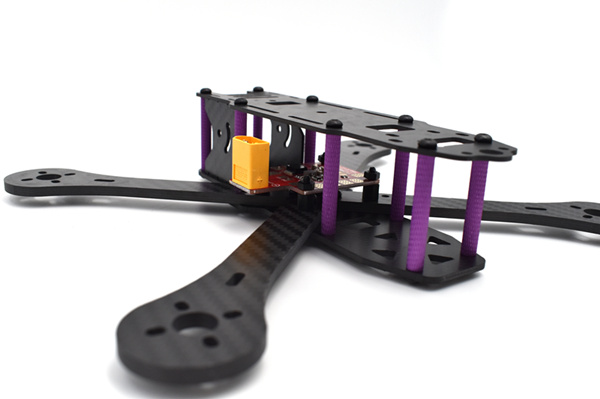 Realacc X4R X5R X6R 180mm 220mm 250mm 4mm Arm Carbon Fiber Frame Kit with BEC Output PDB - Photo: 8