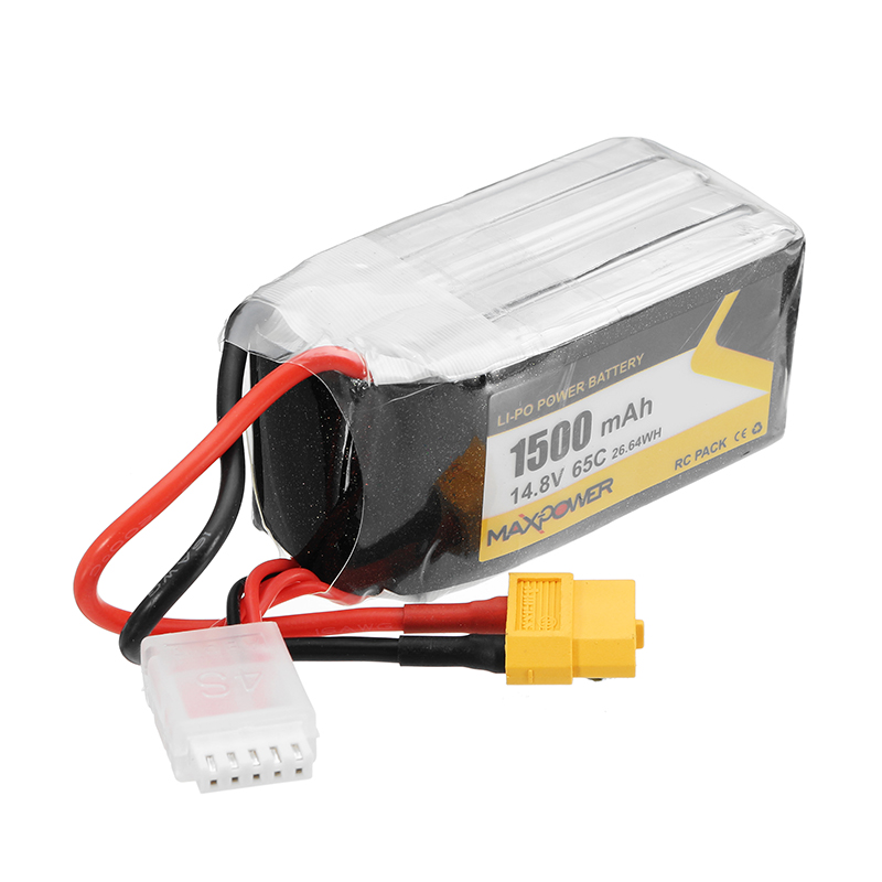 Max Power 14.8V 1500mAh 65C 4S FORCE Lipo Battery XT60 Plug for Wizard X220S RC Quadcopter FPV Drone