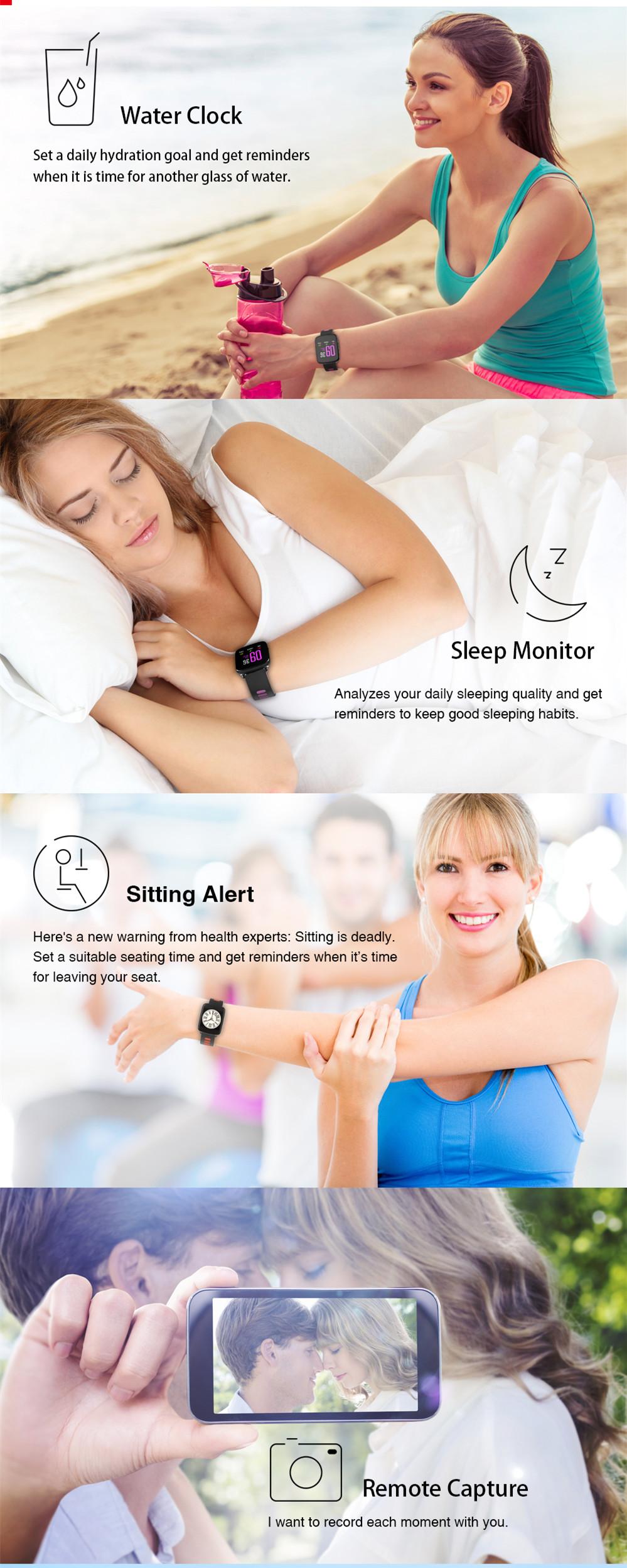 KINGWEAR GV68 MT2502D IP68 Водонепроницаемый монитор для измерения плавкости звонка Smart Watch для IOS Android