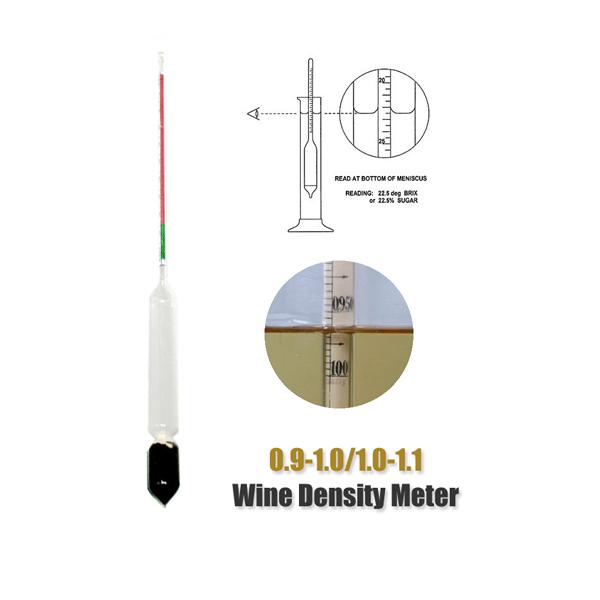 0.9-1.0/1.0-1.1 Wine Brew Alcohol Sugar Meter Hydromete