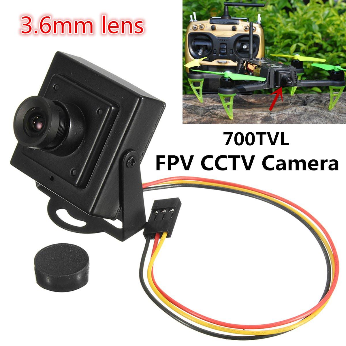 "700TVL 3.6mm Lens 1/3 CMOS PAL Mini FPV CCTV Camera Family Monitor"" - Photo: 2"
