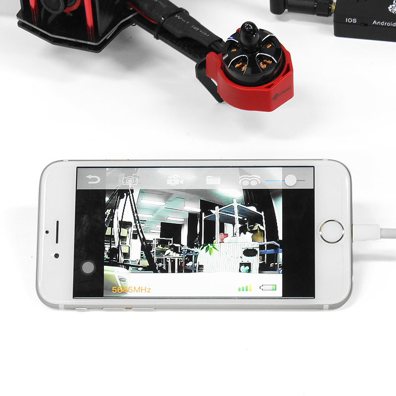 Eachine R051 150CH 5.8G FPV AV Recevier Build in Bat For iPhone Android IOS Smartphone Mobile Tablet