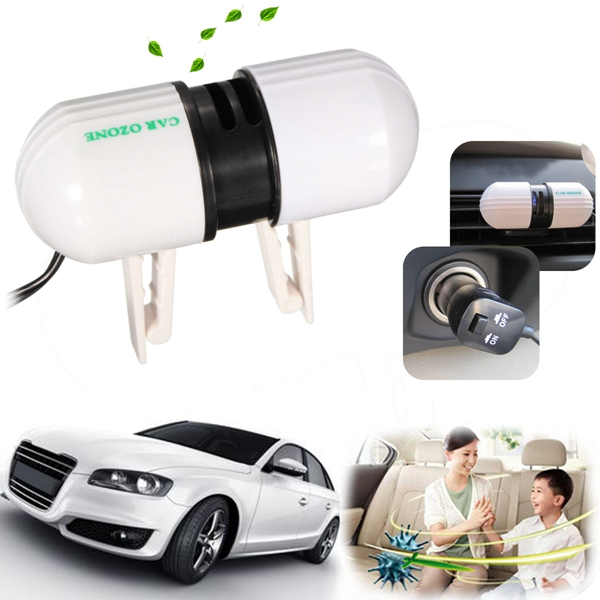 Mini Fresh Air Ionizer Oxygen Bar Ozone Purifiers Revitalizer Generator for Car Auto