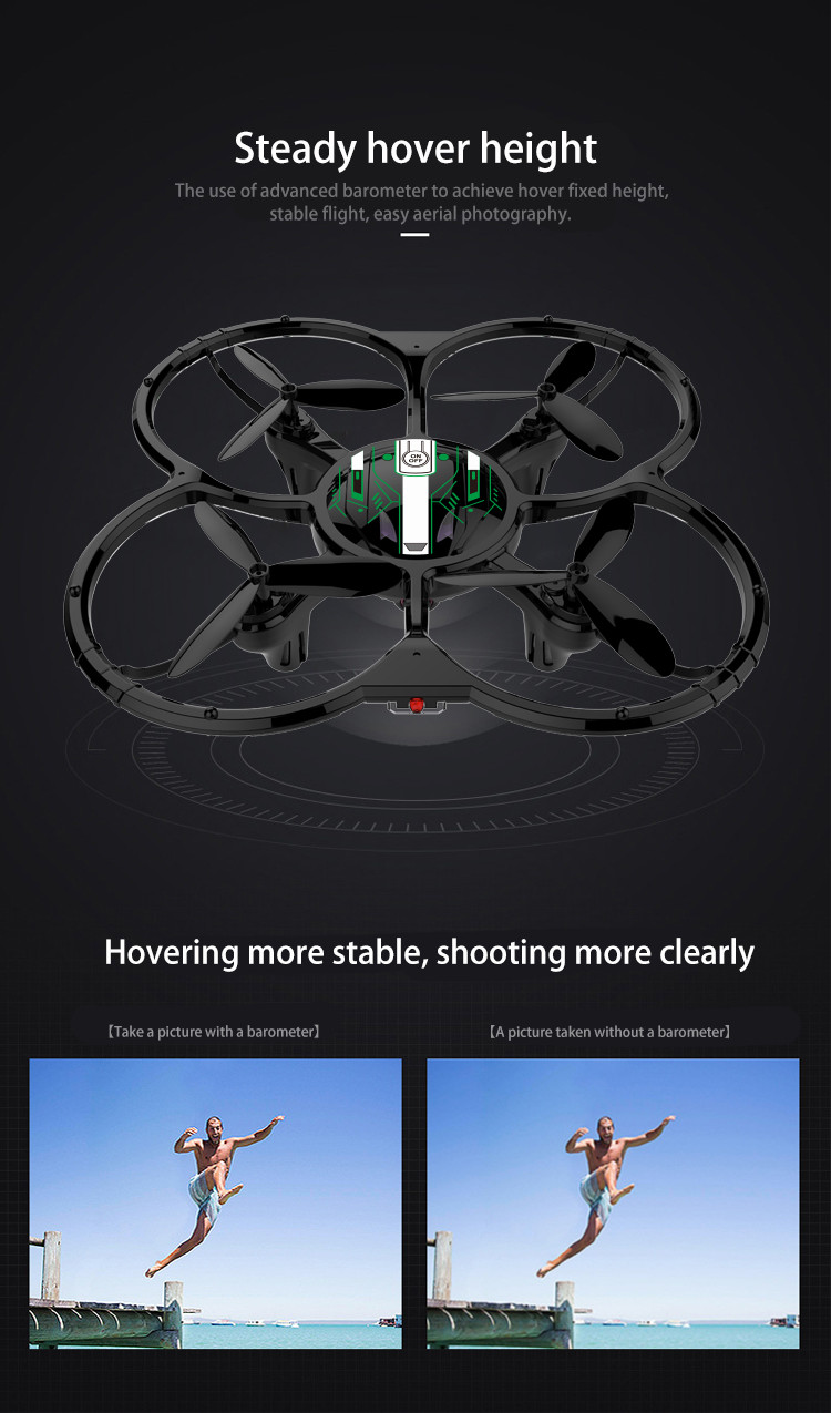 YH-13HW WIFI FPV With 720P Camera High Hold Mode RC Quadcopter RTF - Photo: 2