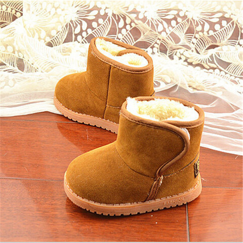 Buy Child Girl Boy Thicken Warm Baby Classic Snow Boots Children Plush Fur Winter Shoes