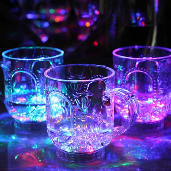 Inductive Colorful LED Wine Whisky Cup Glass Bar Party Beverage Cup Night Light Cup