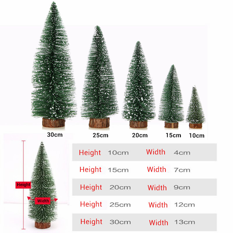 different sizes christmas tree