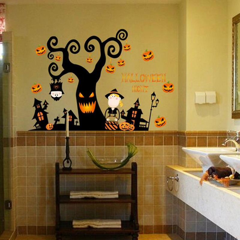 Halloween festival autocollant design mural d coration for Decoration murale halloween
