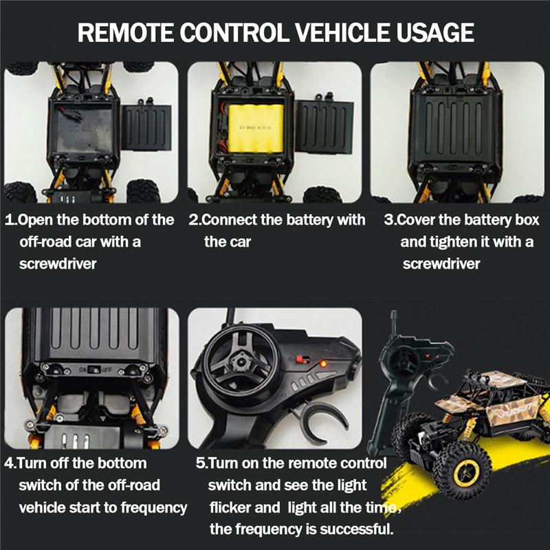 ZINGO Racing 9123 1/18 2.4G 4WD RC Car Rock Crawler High Speed Off-Road Vehicle Toys Gift