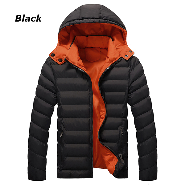 Winter Thick Warm Hooded Padded Cotton Contrast Color Zipper ...