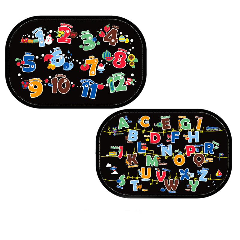 2pcs Cartoon Car Car Window Baby Sunshades Rear Side W