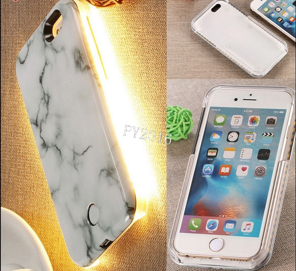 led iphone case 3d marble led light glowing selfie luminous for 12566
