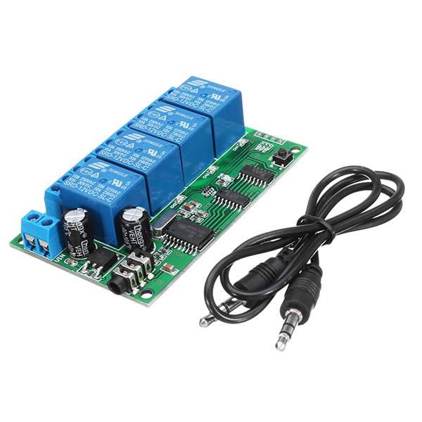 AD22B04 DC 12V 4CH DTMF Tone Signal Decoder Phone Voice Remote Control  Relay Switch Module For LED M