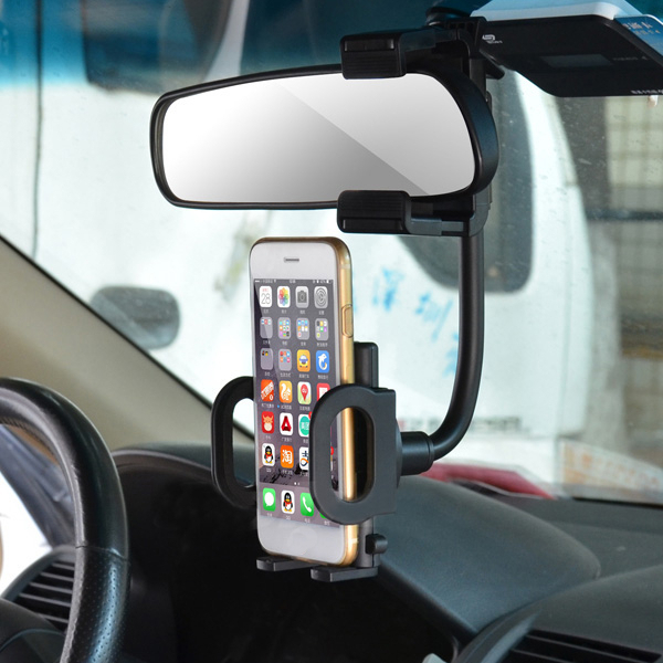 Cobao Universal Rearview Mirror Mount Bracket Phone Holder for GPS Phone 3.5-6 inch