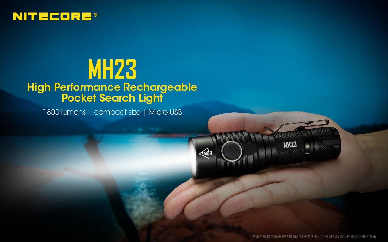 Nitecore MH23 XHP35 HD 1800Lumens 8Modes Switchable Micro-USB Rechargeable LED Flashlight